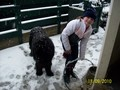 me and my dog Max in the snow - fanpop-pets screencap