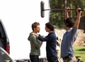 paul and ian behind the scenes - stefan-salvatore photo