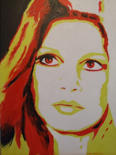Acrylic painting Brigitte Bardot