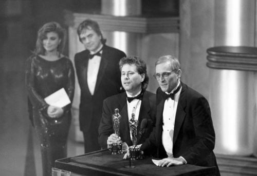 Alan Menken & Howard Ashman at Oscars