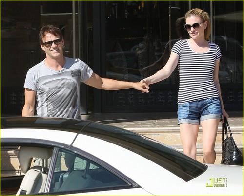 Anna Paquin & Stephen Moyer shopping in Santa Monica