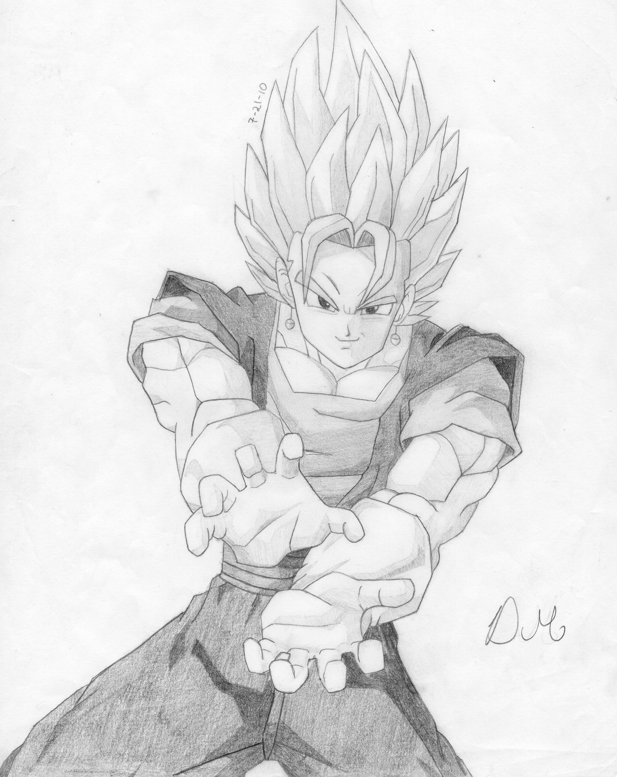 Dragon Ball Z Artworx88: My Super Vegito drawing!