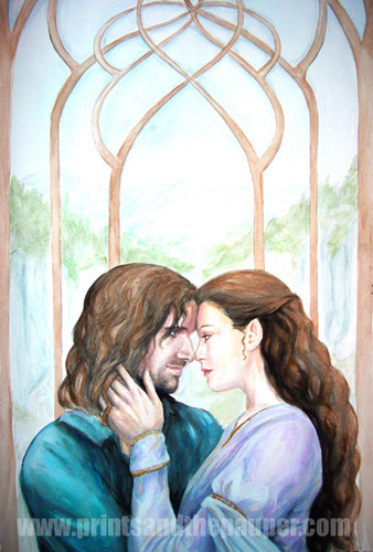 Romantic Movie Moments fond d'écran probably with a drawing room entitled Arwen and Aragorn