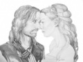 Arwen and Aragorn - romantic-movie-moments fan art