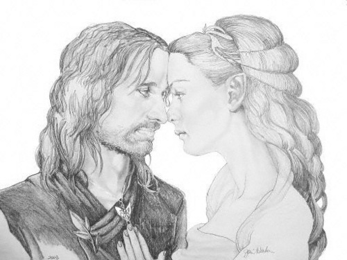 Romantic Movie Moments fond d'écran titled Arwen and Aragorn