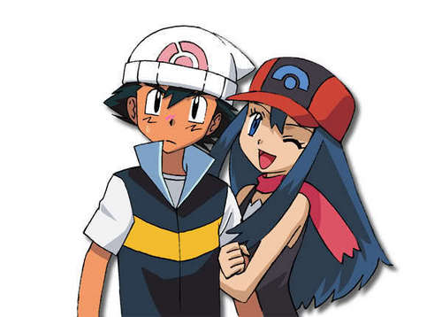 Ash Ketchum achtergrond with anime entitled Ash and Dawn