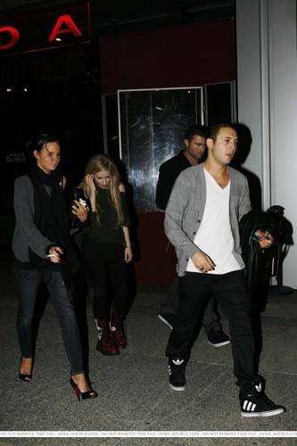 Avril,boa steakhouse Los Angeles 13/10/2010
