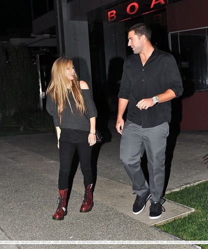 Avril,boa steakhouse Los Angeles 13/10/2010