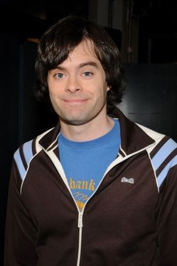 Bill Hader wallpaper possibly containing an outerwear, a leisure wear, and a workwear entitled Bill Hader