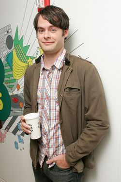 Bill Hader 壁紙 probably containing a sign, a green beret, 疲労, and 疲れる titled Bill Hader