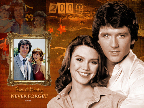 Dallas 1978 - 1991 wallpaper possibly containing a portrait called Bobby and Pamela Never Forget