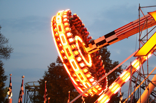 Canobie Lake Park-Xtreme Frisbee at Night