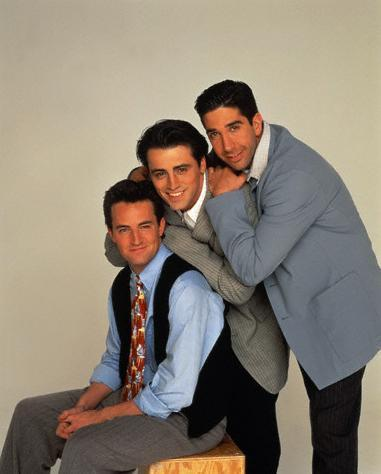 Chandler Bing, Joey Tribbiani, and Ross Geller