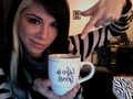 Christina with a cup - christina-perri photo