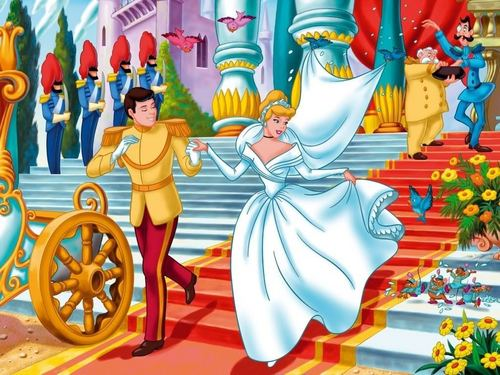 Disney Couples wallpaper possibly containing anime entitled Cinderella and Charming