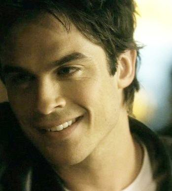 Damon Salvatore smiling