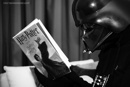 Darth Vader lectura Harry Potter