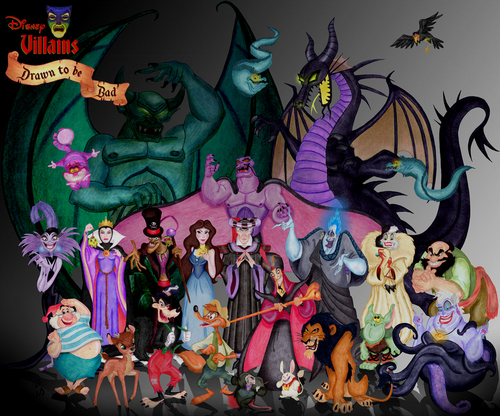 cattivi Disney wallpaper containing Anime entitled Disney Villains