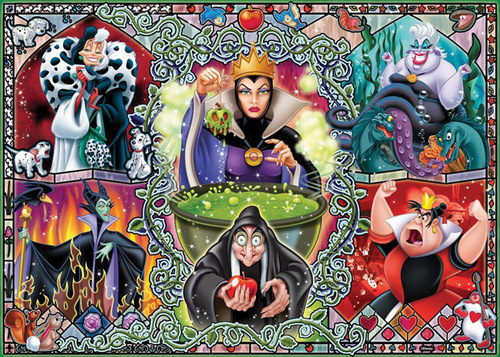 Disney Villains achtergrond containing a stained glass window and anime entitled Disney Villains