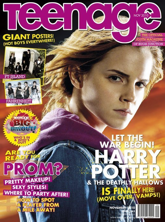 Emma as Hermione on TeenAge magazine Cover