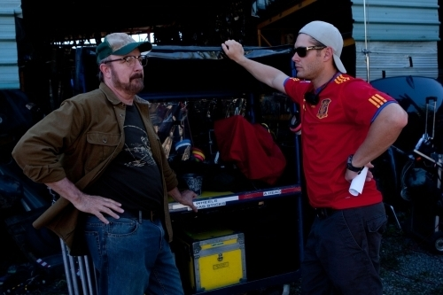 Episode 6.04 - Weekend at Bobby's - BTS Set Photos with Jensen