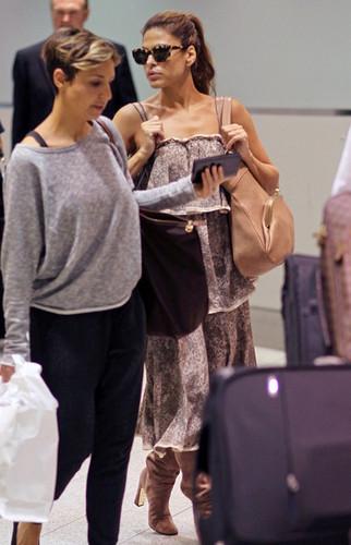 Eva Mendes at Pearson International Airport
