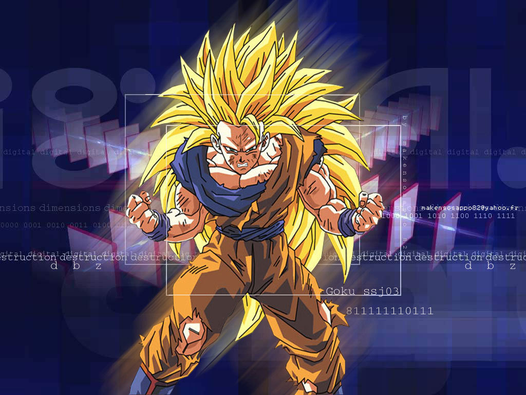 Dragonball Z Movie Characters Goku Super Saiyan 3 Wallpaper 2