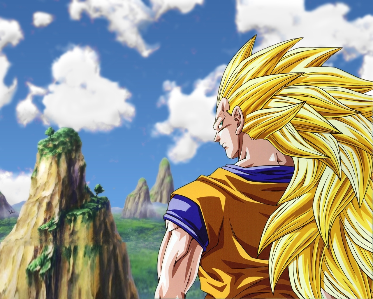 Dragonball Z Movie Characters Goku Super Saiyan 3 Wallpaper 1
