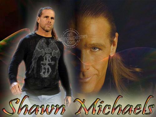 Shawn Michaels Hintergrund possibly with a sign titled HBK <3