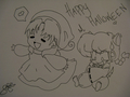 Happy Halloween from: Lolly4me2 (inked sketch) - total-drama-island fan art