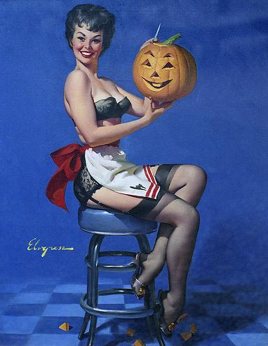 pin up girl wallpaper entitled Happy halloween