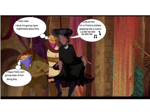 In Frollo's clothes