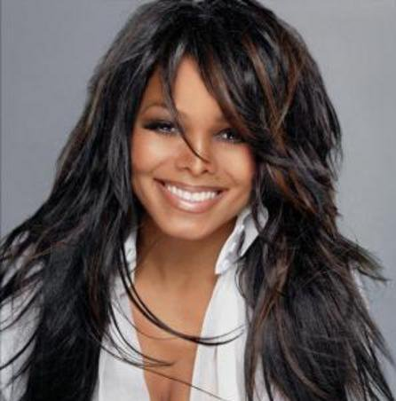 Janet Jackson wallpaper containing a portrait called JANET ♥