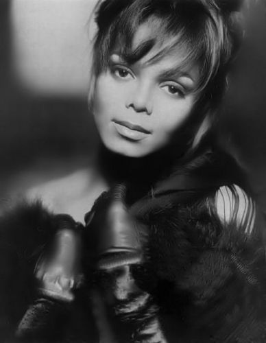 Janet Jackson wallpaper containing a fur coat called Janet Jackson