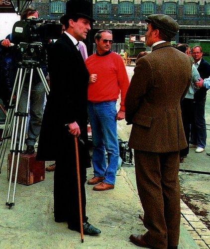 Jeremy Brett aka Sherlock Holmes on set