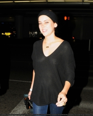 Jessica Stroup arrives into LAX Airport - 11 October 2010