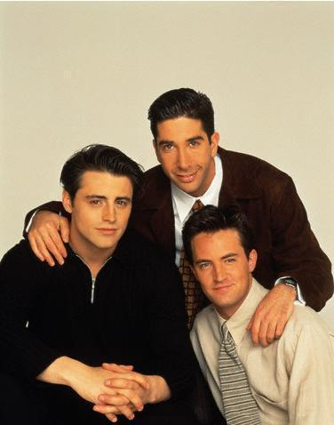 Joey Tribbiani, Ross Geller, and Chandler Bing