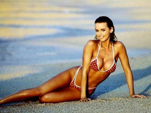 Wanita cantik kertas dinding containing a bikini entitled Karen Mcdougal