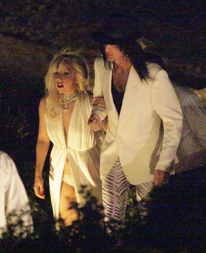 Lady Gaga Spends Vacation in Greece