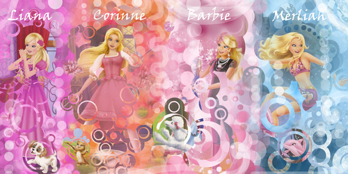 Liana, Corinne , Barbie and Merliah !! - barbie-movies Photo