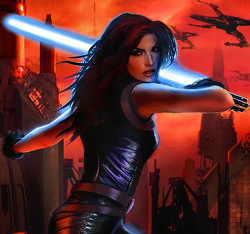 Mara Jade Skywalker achtergrond probably containing a leotard, a hip boot, and tights entitled Mara