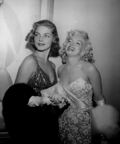 Marilyn Monroe and Lauren Bacall
