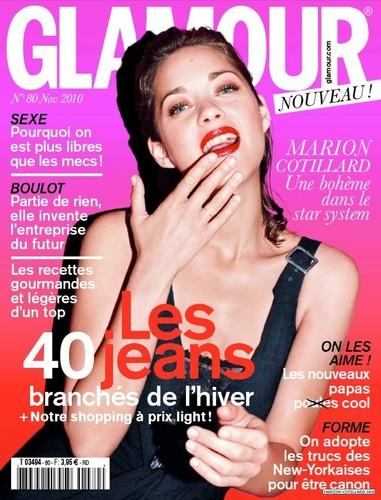 Marion in Glamour (France) - November 2010 Scans