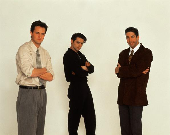 Matthew Perry, Matt LeBlanc, and David Schwimmer