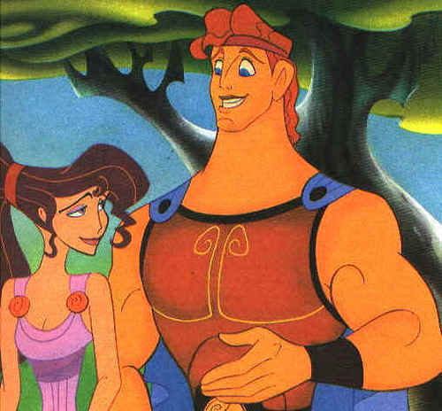 casais de disney wallpaper containing animê called Megara and Hercules