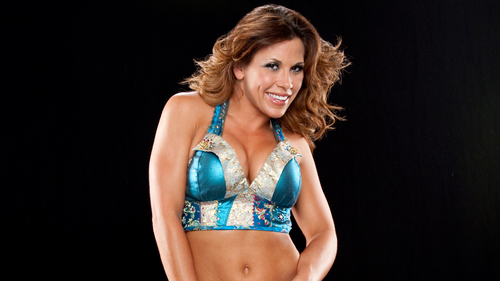 WWE Divas achtergrond probably containing a bikini called Mickie J.