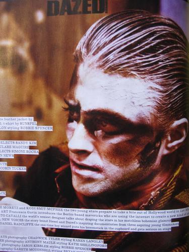New Daniel Radcliffe Dazed & Confused magazine 写真