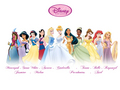 New Disney Princess Line Up - disney-princess fan art