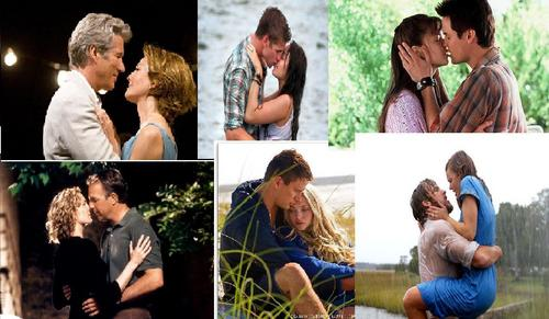 Romantic Movie Moments Hintergrund probably containing a portrait entitled Nicholas Sparks Filme