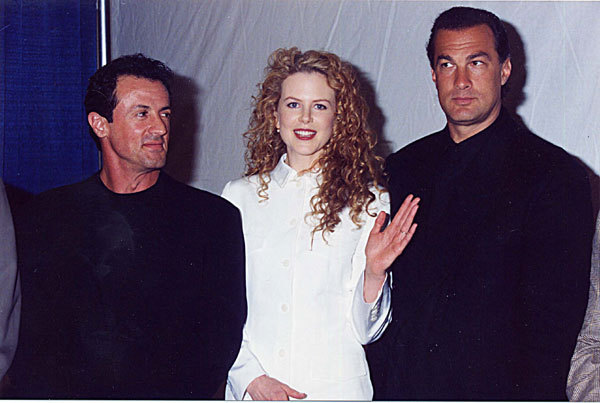 Nicole with Sylvester Stallone and Steven Segal at Showest Convention